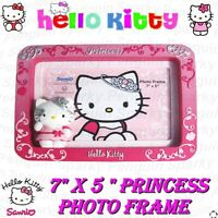 """HELLO KITTY 7x5"""" 3D PRINCESS PHOTO FRAME GIFT BOX SET IN PINK GIRLS KIDS PICTURE"""