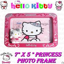 "HELLO KITTY 7x5"" 3D PRINCESS PHOTO FRAME GIFT BOX SET IN PINK GIRLS KIDS PICTURE"