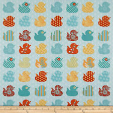 E Studio - Ducky Tales - Ducks in Rows 100% cotton Fabric Patchwork Quilting