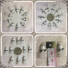 White Christening Wedding Guardian Angel Charms Pack Of 10 Christmas Decorations