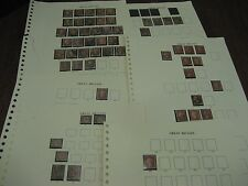COLLECTION 1841-1874 EARLY USED VICTORIA STAMPS SG CAT £2196 DISPLAY PAGES