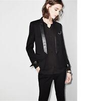 Fashion Black Female Office Uniform Elegant Pant Suits Lady Trouser Suit Blazer