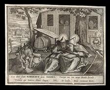 santino incisione 1600 SS.ROMUALDO E MARINO DI CAMALDOLI  le clerc