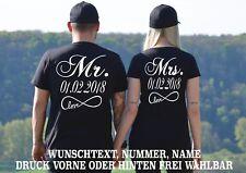 T Shirt Mr Mrs Motiv Partnerlook Shirts XS 5XL Infinity love Tee Insta Einhorn
