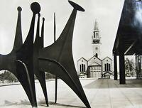 Vintage Alexander Calder Sculpture Photo Heads & Tail Têtes et Queue Berlin 1968