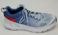 Hoka One One Clifton 6 Womens Orthopedic Sneakers Shoes Size 9.5 Blue Gray