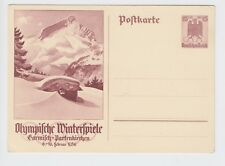 Germany Stationary Card Winter Olympics Garmich Partenkirchen 1934 15 +10