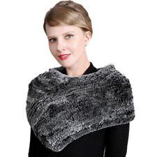 Sciarpa Sciarpe Real Rex Rabbit Fur Anello Cappuccio Fascia per capelli collo inverno più caldo elastico