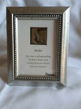 "Hd26 ""Mother"" Picture Frame Music Box Plaque/Wall Hanging - Tune ""All I Ask"""
