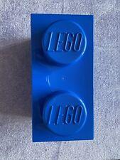 Lego 2 Stud Blue Storage Brick Plastic Toy Storage Box 2x1 Stud