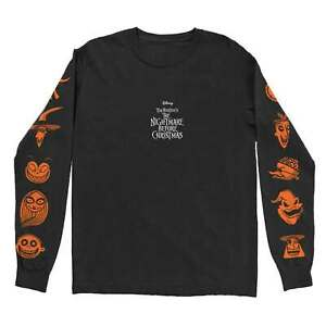 Nightmare Before Christmas T Shirt All Characters Orange Official Long Sleeve