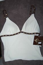 C Collection by Christina Cream Non Wired Soft Padded Tankini Top UK 10 BNWT