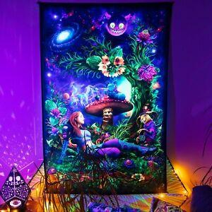 UV Blacklight Backdrop Psychedelic Art Alice in trippyland UV Fluorescent Trippy