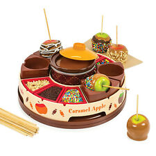 Electric Chocolate Candy Apple Maker 16oz Melting Pot Topping Tray Dessert Party