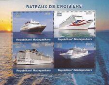 Madagascar - 2018 Cruise Ships - 4 Stamp Sheet - 13D-194