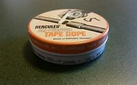 Vintage HERCULES ALL-PURPOSE TAPE DOPE, Empty Metal Tin