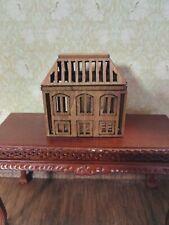 Dollhouse Miniature Birdcage with Walnut Finish 1:12 Scale Original Design