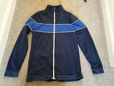 Boys age 14 (13-14) Zip through tracksuit jacket navy retro style