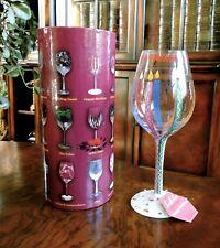 "Lolita Collector's Wine Stem Glass 15 oz ""Happy Birthday Love My Wine NIB"