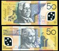 AUSTRALIA 50 DOLLARS 2009 POLYMER P 60 UNC