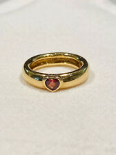 in 18k yellow gold size 6.5 Vintage Tiffany & Co pink tourmaline heart ring
