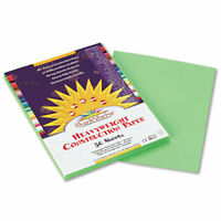 SunWorks Construction Paper, 58 lbs., 9 x 12, Light Green, 50 Sheets/Pack, PK -