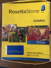 Rosetta Stone Spanish Espanol Totale Level 1-5 Version 4 (2010) incl. code