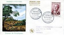 FRANCE FDC - 260 1168 3 DENIS DIDEROT LANGRES 7 6 1958