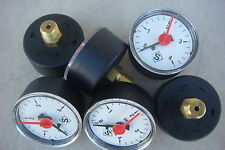 Lot de 6 Manomètre machine,Filetage Central en Laiton,Pression 4 Bars,Ø 50 mm