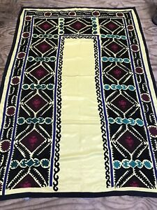 Old Uzbek Suzani embroidery Tapestry Size:235x165 Cm