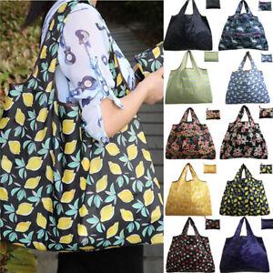 Foldable Shopping Bag Recyclable Reusable Fruit Grocery Tote Bag Handbag 83US