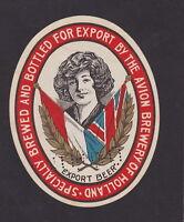 Ancienne étiquette Alcool Hollande BN44723 Beer Export Femme Drapeau Bière