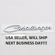 NEW 3D SILVER C.hallenger Trunk Car Emblem Rear Car Sticker BADGE