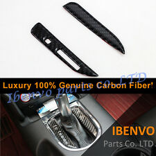 2Pcs Luxury Carbon Fiber Gearshift Gear Box Console Cover For Ford Mustang 15-17