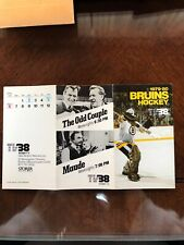 1979-80 Boston Bruins Hockey Pocket Schedule TV38/The Odd Couple Maude