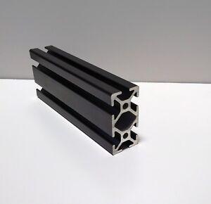 "PRINSU EQUIVALENT 1"" x 2"" Aluminum Black Extrusion Crossbar 47"" w/tapped ends."