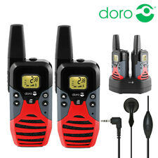 10Km DORO WT87 Compact Walkie Talkie 2 Two Way PMR Licence Free Radio Twin