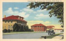 New listing Baton Rouge LA   LOUISIANA STATE UNIVERSITY~Fraternity Row   ca1940's Postcard