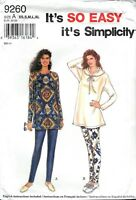 Simplicity Sewing Pattern # 9260 Misses Pants And Tunic Uncut Size: XS-S-M-L-XL