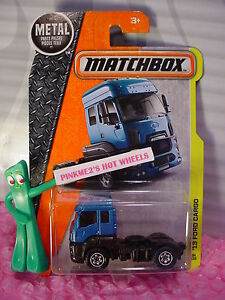 2016 Matchbox '13 FORD CARGO #34☆Blue Semi Rig☆Construction☆case K/M