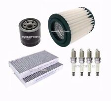 FOR HONDA STREAM 2.0i VTEC SERVICE KIT OIL/AIR/CABIN FILTER & PLUGS SET 01-05