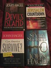 Four John Hagee Books..1 Fiction + 3 Inspirational..2 are Prophecy..Free Ship