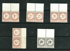 NIGERIA; 1959 early Postage Due issue Mint MNH complete set in pairs.
