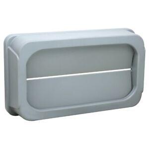 Grey Drop Shot Wall Hugger Lid for Slim Jim Bin 87 Litre Bin
