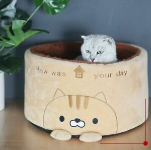 New Cute Pet Dog Cat Sofa Bed House Cushion Mat Remavoable Round Small