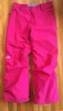 Girls THE NORTH FACE Hyvent Waterproof Snow Ski Snowboard Pants / Pink XL 18