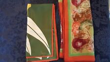 Scarves Scarf Vintage VERA 2 Yellow Flower Vegetables Fall COLORS 20 x 20