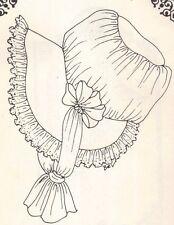 """PATTERN for Doll Bonnet hat cap Victorian head size 8""""-10"""" 12"""" 14"""" c"""