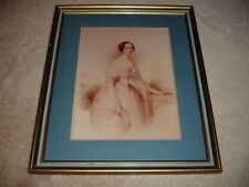 """Edouard Ender """"Portrait Of a Lady"""" Framed 1845 Watercolor"""
