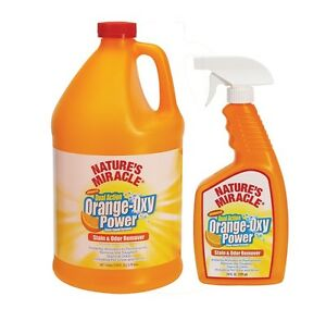 Natural Orange Oxy Stain & Odor Remover for Pets Liquid Gallon
